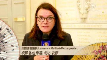 法国国会议员Méhaignerie与Peyron女士拜年