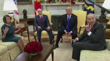 川普會晤民主黨領袖 要求預算含建牆款