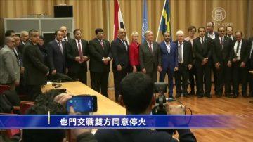 也门交战双方同意停火