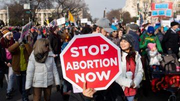 """反对堕胎 """"为生命游行""""活动华府举办"""