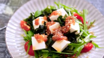 豆腐海苔芽和風沙拉 健康美味(視頻)