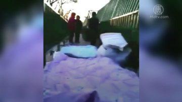 新年夜 中國訪民強忍霜凍席地而睡