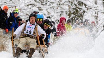 驚險歡樂 德國巴伐利亞雪橇比賽