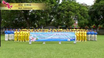 印度尼西亚五座城市法轮功向李洪志大师拜年