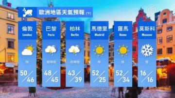 1月12日全球天氣預報