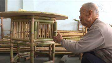 一甲子的专注! 国宝级竹艺师巧手编竹椅