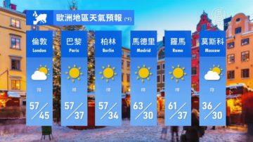 2月16日全球天氣預報