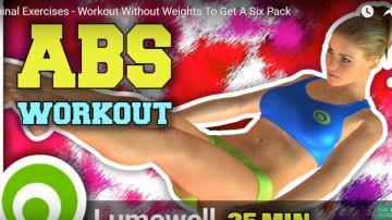 想要6塊漂亮腹肌 簡單這樣做 有效減重不是夢(視頻)