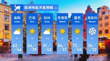 3月22日全球天气预报